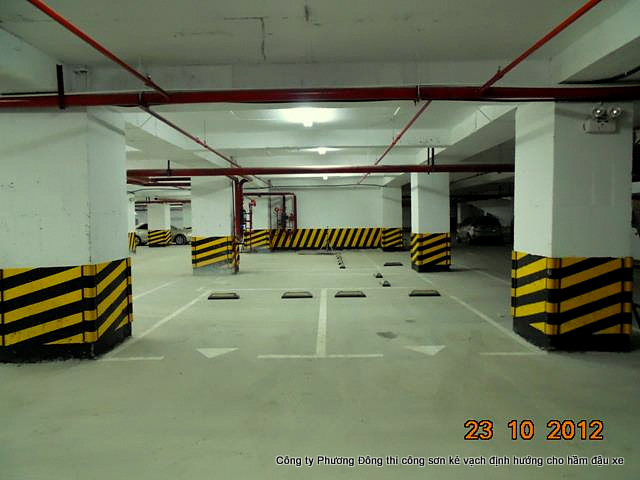 sơn epoxy hầm đỗ xe