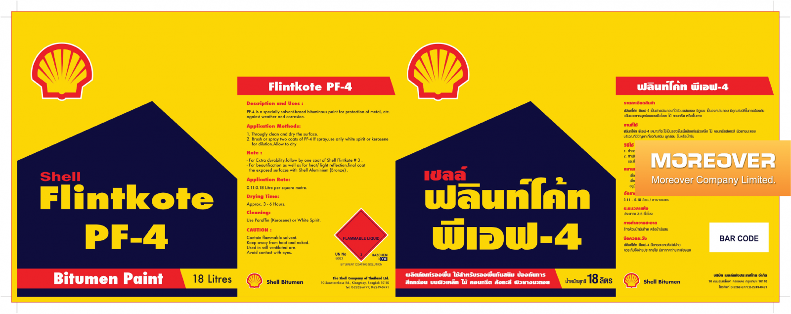 shell flintkote pf4 son chong tham do nhot thap